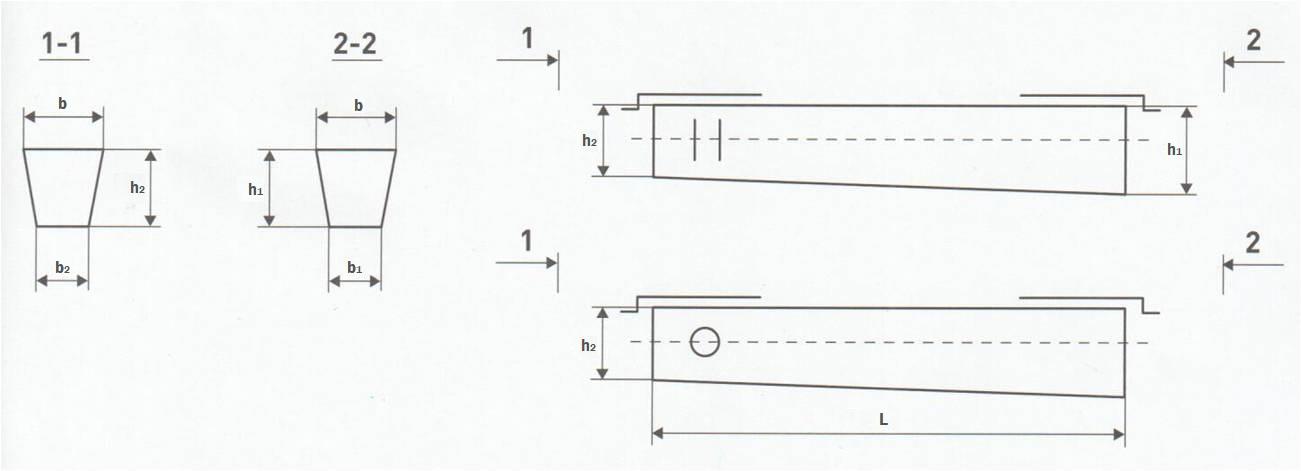 Железобетонная опора СВ 95 2 чертеж