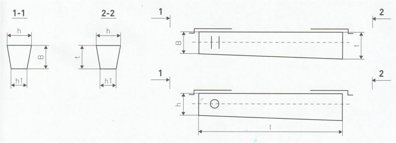 Железобетонная опора СВ 95 3 чертеж